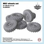 M-93 wheels set for ICM Zil-131 kit