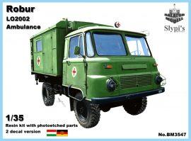 Robur LO2002 sebesültszállító