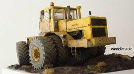 Двойные колеса установлены для K-700A, 1/35 (Balaton Modell)