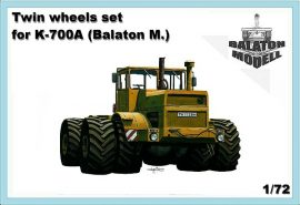 Twin wheels set for K700A, 1/72 (Balaton Modell kit)