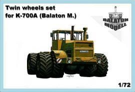 Двойные колеса установлены для K-700A, 1/72 (Balaton Modell)