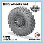 M-93 wheels set for ICM Zil-131 kit, 1/72