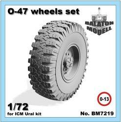 O-47 wheels set for ICM Ural-375/4320 kit, 1/72