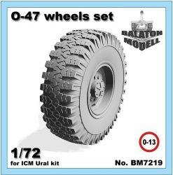 O-47 wheels set for ICM Ural-375/4320 kit, 1/72