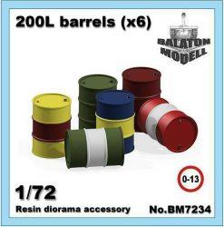 200 literes hordók x6