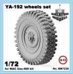 YA-192 wheels set for MAC Uaz kit, 1/72