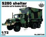 S-280 shelter for Academy M35 kit