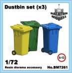 Dustbin set, 1/72 (3pcs.)