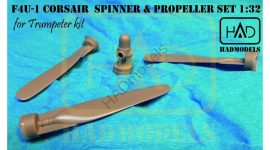 HADmodels:  F-4U-1 Corsair spinner and propeller set for Trumpeter kit, 1/32
