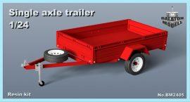 Single axle trailer, 1/24