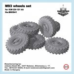 M-93 wheels set for ICM Zil-131 kit