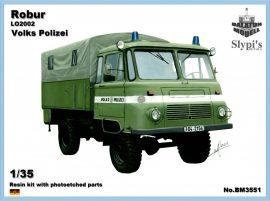 Robur LO2002 kelet-német rendőrségi teherautó, 1/35