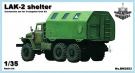 LAK-2 shelter, 1/35 for Trumpeter Ural kit