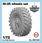 OI-25 wheels set for ICM Ural-375/4320 kits 1/72
