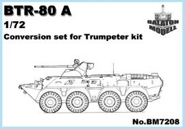 BTR-80A turret for Trumpeter BTR-80 kit, 1/72