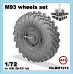 M-93 wheels set for ICM Zil-131 kit, 1/72
