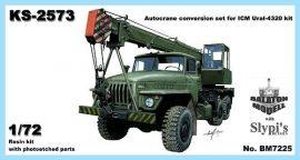 KS-2573 crane for ICM Ural-4320 kit, 1/72