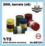 200L barrels x6