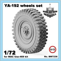 YA-192 wheels set for MAC Uaz kit, 1/72