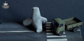Tetrapod roadblock, 1/72 (x2)