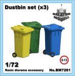 Dustbin set, 1/72 (3pcs.)