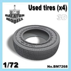 Used tires (x4), 1/72